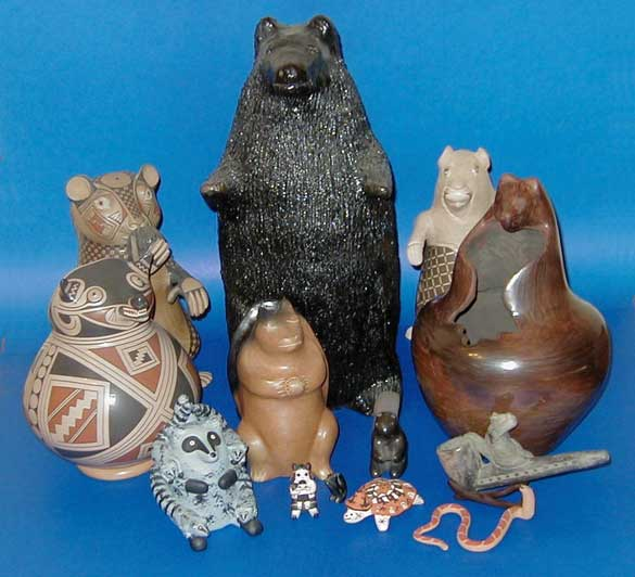 animal effigy pots